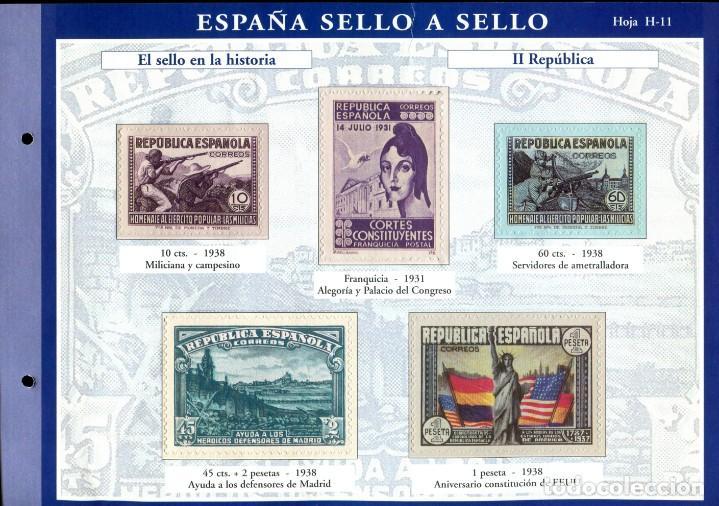 Sellos: ESPAÑA SELLO A SELLO (EL PAIS) 330 REPRODUCCIONES DE SELLOS ALBUM CON 330 SELLOS DE CORREOS - Foto 11 - 199724933