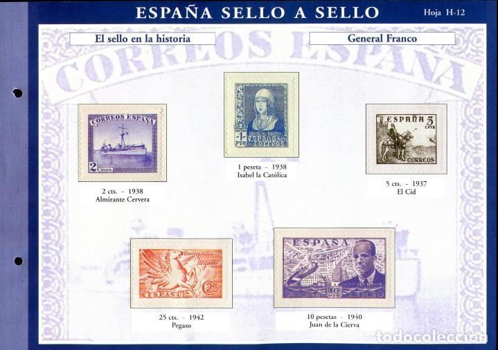 Sellos: ESPAÑA SELLO A SELLO (EL PAIS) 330 REPRODUCCIONES DE SELLOS ALBUM CON 330 SELLOS DE CORREOS - Foto 12 - 199724933