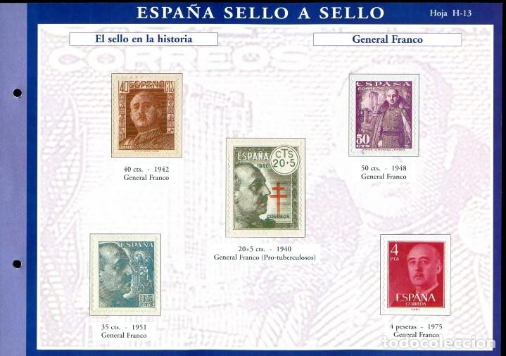 Sellos: ESPAÑA SELLO A SELLO (EL PAIS) 330 REPRODUCCIONES DE SELLOS ALBUM CON 330 SELLOS DE CORREOS - Foto 13 - 199724933