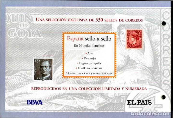 Sellos: ESPAÑA SELLO A SELLO (EL PAIS) 330 REPRODUCCIONES DE SELLOS ALBUM CON 330 SELLOS DE CORREOS - Foto 14 - 199724933