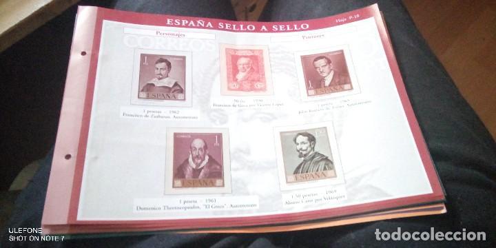 LOTE 14 HOJAS ESPAÑA SELLO A SELLO - COLECCION EL PAIS AÑO 2003 (Filatelia - Sellos - Reproducciones)