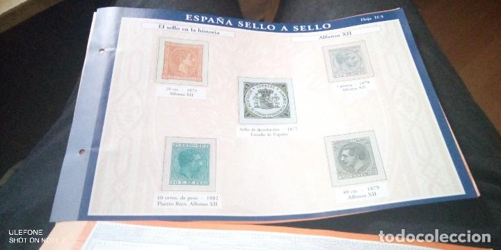 Sellos: lote 14 hojas España sello a sello - Coleccion El Pais año 2003 - Foto 2 - 200633968