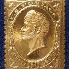 Timbres: SELLO ORO CON SOBRE - 90 CENT - OLIVER PERRY - PRIMER DÍA DE EMISIÓN DEL SELLO ORIGINAL, 12.04.1870. Lote 201480436