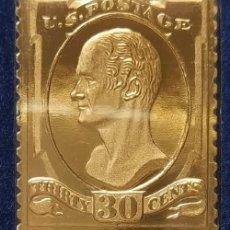 Timbres: SELLO ORO CON SOBRE - 30 CT ALEXANDER HAMILTON - PRIMER DÍA DE EMISIÓN DEL SELLO ORIGI., 12.04.1870. Lote 201480687