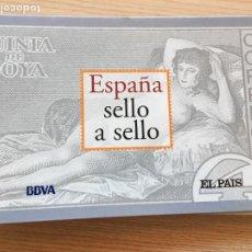 Timbres: ESPAÑA SELLO A SELLO BBVA EL PAIS COLECCIÓN COMPLETA 330 SELLOS. Lote 201764718