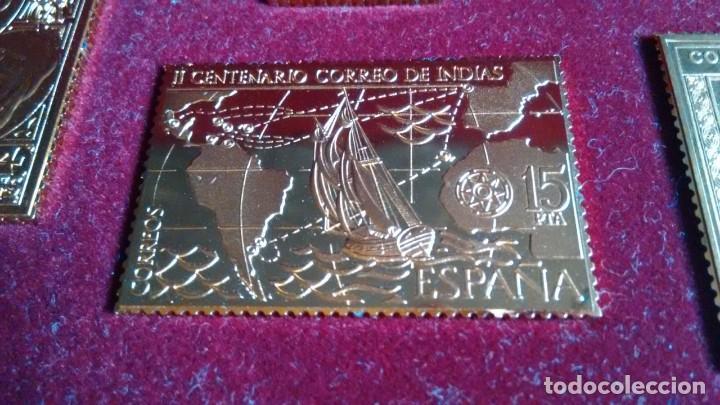Sellos: SELLOS PLATA ORO ENCUENTRO DOS MUNDOS HALLMARK - Foto 3 - 204209826