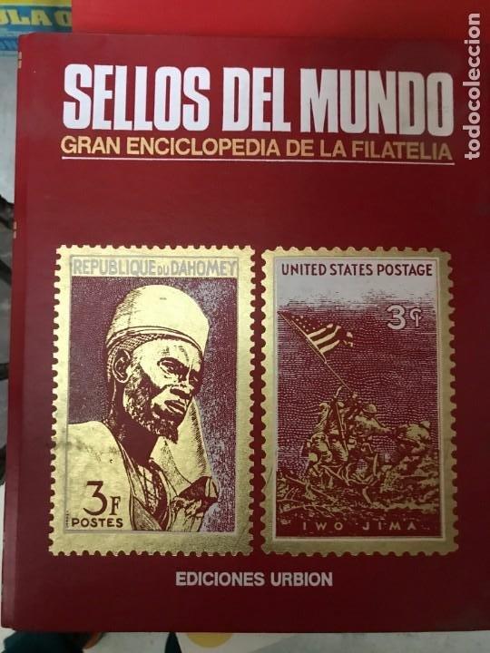 Sellos: SELLOS DEL MUNDO -AFRICA AMERICA-ASIA-OCEANIA-EUROPA EDICIONES URBION -3 CARPETA CON SELLOS COMPLETO - Foto 2 - 204687101