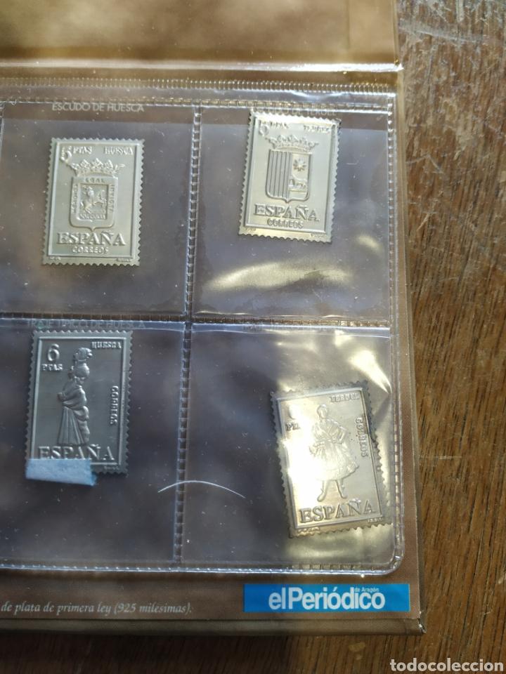 Sellos: 7 sellos de Aragón en plata - Foto 3 - 207528690