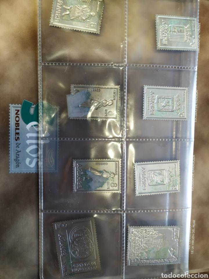 Sellos: 7 sellos de Aragón en plata - Foto 5 - 207528690