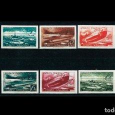 Francobolli: ESPAÑA - 1938 - II REPUBLICA - EDIFIL 775/780S -F - SERIE COMPLETA - MNG - NUEVOS CORREO SUBMARINO. Lote 222615721