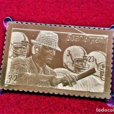 Sellos: SELLO DE ORO 22.CTS LEGENDARY FOOTBALL COACHES - BEAR BRYANT 1997 - 32 X 40.MM. Lote 211395144