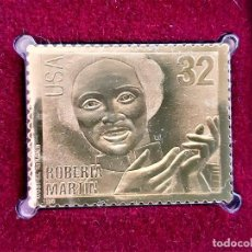 Sellos: SELLO DE ORO MACIZO 22.KT. GOSPEL SINGERS ROBERTA MARTIN 1998 - 40 X 30.MM. Lote 211502602