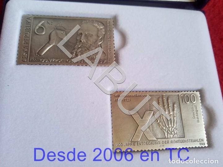 Sellos: GENERAL 2 SELLOS DE 18 GRS PLATA ELECTRICS MEDICAL SYSTEMS ESPAÑA WILHELM C RONTGEN 250 GRS CJ1 - Foto 1 - 211597822