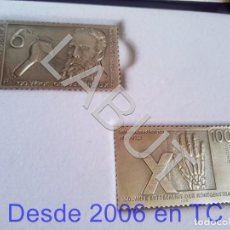 Sellos: GENERAL 2 SELLOS DE 18 GRS PLATA ELECTRICS MEDICAL SYSTEMS ESPAÑA WILHELM C RONTGEN 250 GRS CJ1. Lote 211597822