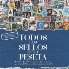 Timbres: TODOS LOS SELLOS DE LA PESETA. Lote 211677841