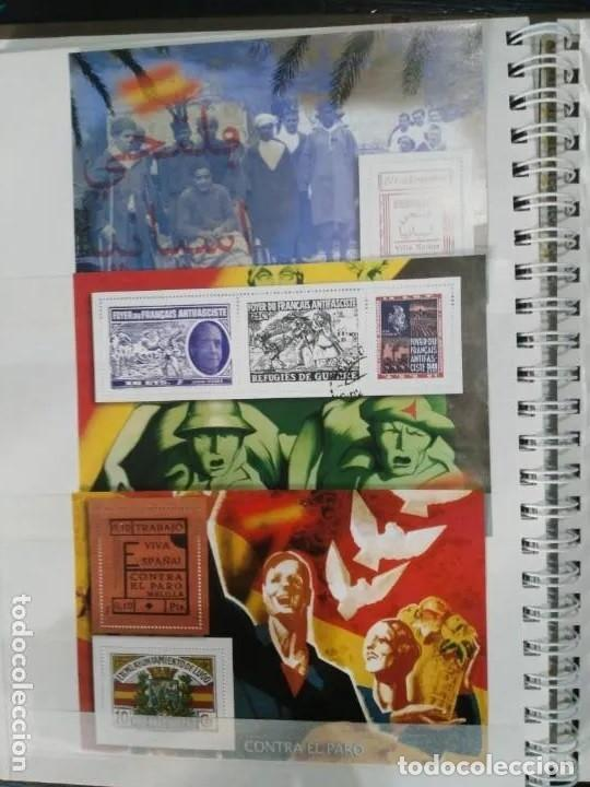 Sellos: Album La guerra civil española en sellos de correos Coleccion completa - Foto 2 - 212117493