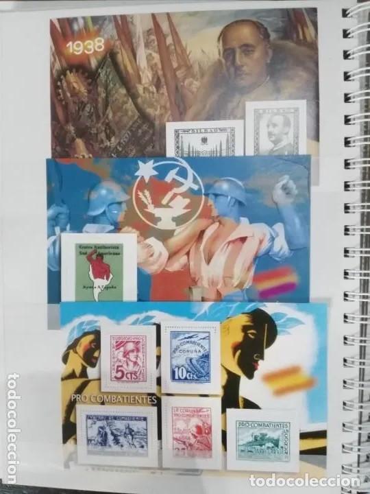Sellos: Album La guerra civil española en sellos de correos Coleccion completa - Foto 4 - 212117493