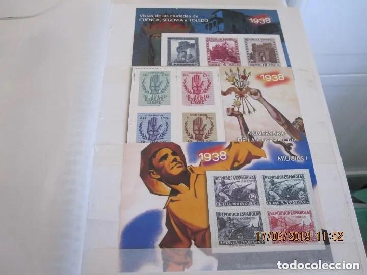 Sellos: Album La guerra civil española en sellos de correos Coleccion completa - Foto 5 - 212117493