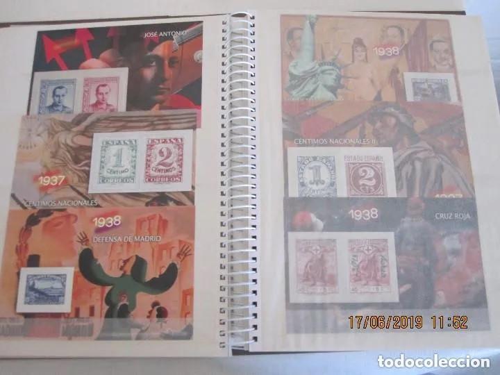 Sellos: Album La guerra civil española en sellos de correos Coleccion completa - Foto 6 - 212117493