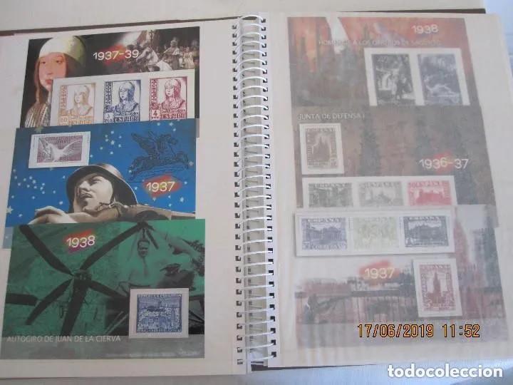 Sellos: Album La guerra civil española en sellos de correos Coleccion completa - Foto 7 - 212117493