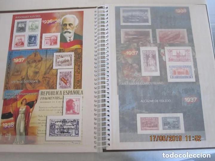Sellos: Album La guerra civil española en sellos de correos Coleccion completa - Foto 8 - 212117493