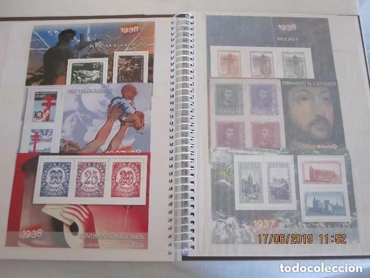 Sellos: Album La guerra civil española en sellos de correos Coleccion completa - Foto 9 - 212117493