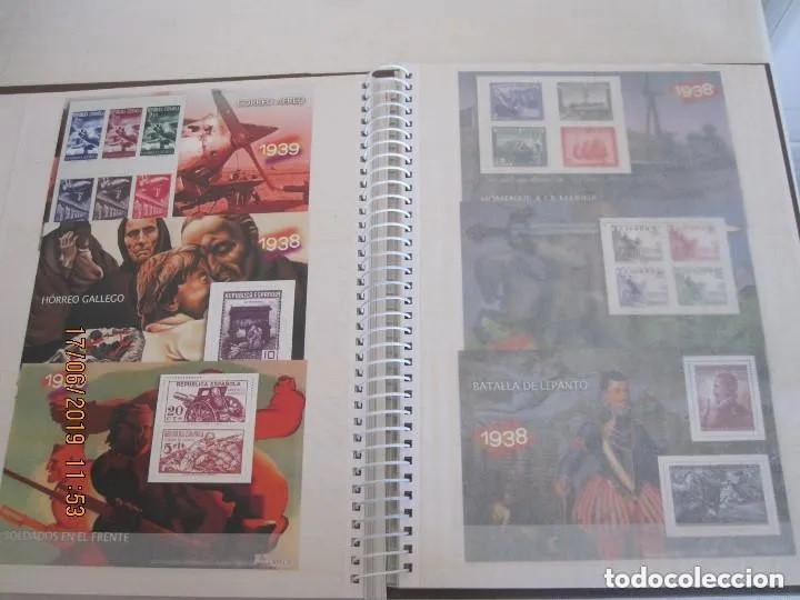 Sellos: Album La guerra civil española en sellos de correos Coleccion completa - Foto 10 - 212117493