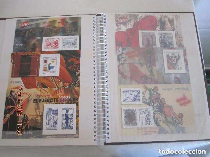 Sellos: Album La guerra civil española en sellos de correos Coleccion completa - Foto 11 - 212117493