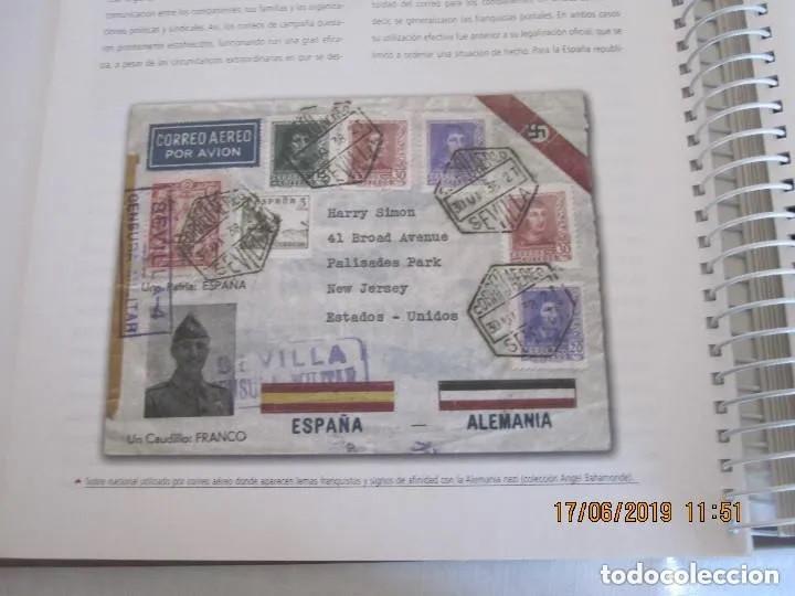 Sellos: Album La guerra civil española en sellos de correos Coleccion completa - Foto 12 - 212117493