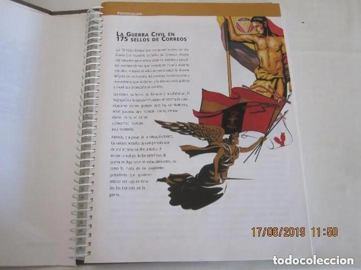 Sellos: Album La guerra civil española en sellos de correos Coleccion completa - Foto 13 - 212117493