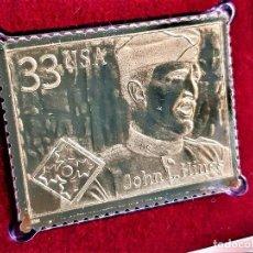Timbres: SELLO DE ORO MACIZO 22.KT. DISTINGUISHED SOLDIERS JOHN L. HINES - 40 X 31.MM. Lote 213017473