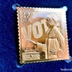 Timbres: SELLO DE ORO 22.KT. CELEBRATE THE CENTURY 1920-1929 19TH AMENDMENT 1998 - 30 X 31.MM. Lote 213331782