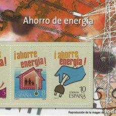 Sellos: REPRODUCCIÓN HOJA BLOQUE AHORRO DE ENERGÍA. SELLOS, BILLETES E ICONOS DEMOCRACIA EL MUNDO. SELLO-476. Lote 213615912