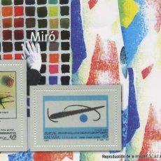 Timbres: REPRODUCCIÓN HOJA BLOQUE MIRÓ. EL MUNDO. SELLO-554. Lote 213860663