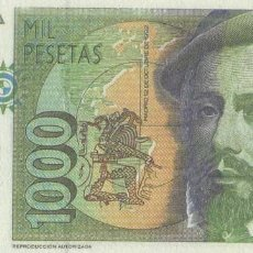 Timbres: REPRODUCCIÓN BILLETE 1000 PESETAS (1992). EL MUNDO. BILL-781. Lote 214096617