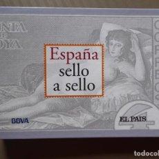 Timbres: ESPAÑA SELLO A SELLO - CARPETA COLECCIONABLE EL PAÍS-BBVA, 2003 - COMPLETO 66 FICHAS, 330 SELLOS. Lote 214202617