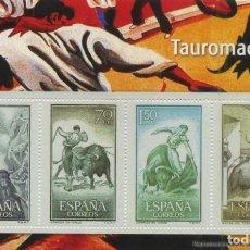 Timbres: REPRODUCCIÓN HOJA BLOQUE TAUROMAQUIA II. EL FRANQUISMO EN SELLOS Y BILLETES. EL MUNDO. SELLOS-614. Lote 215245308