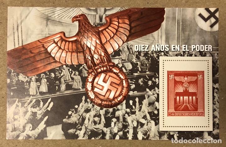 Sellos: LOTE DE 13 HOJAS BLOQUE ALUSIVAS A LA 2ª GUERRA MUNDIAL - BANDO NAZI - FACSIMIL. - Foto 2 - 216399572