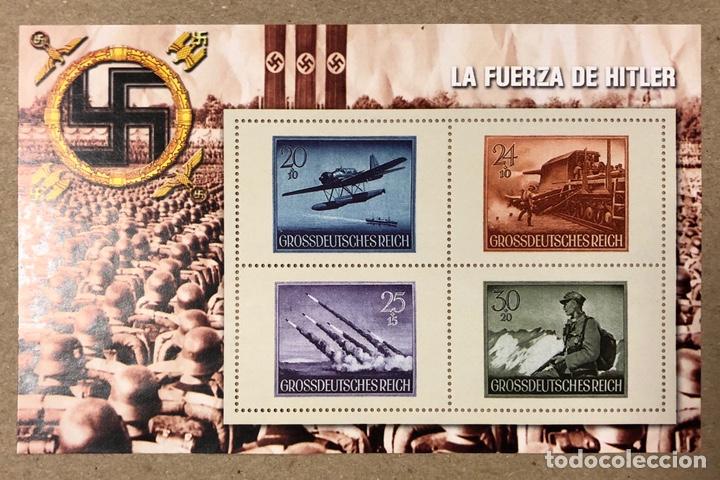 Sellos: LOTE DE 13 HOJAS BLOQUE ALUSIVAS A LA 2ª GUERRA MUNDIAL - BANDO NAZI - FACSIMIL. - Foto 4 - 216399572