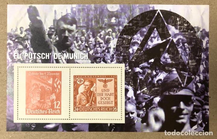Sellos: LOTE DE 13 HOJAS BLOQUE ALUSIVAS A LA 2ª GUERRA MUNDIAL - BANDO NAZI - FACSIMIL. - Foto 8 - 216399572