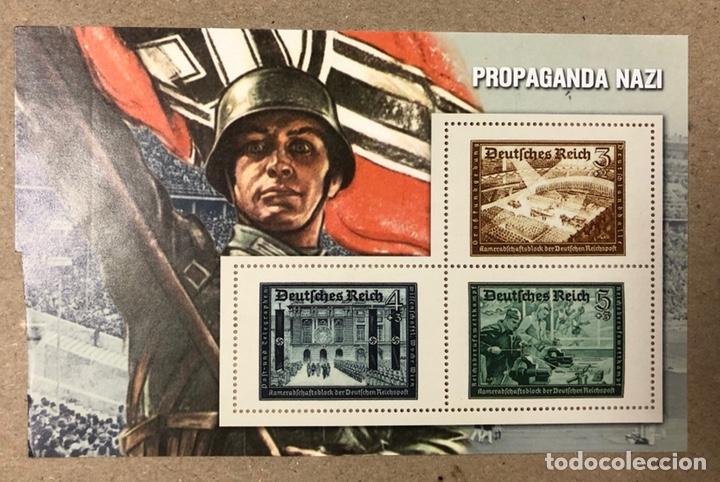 Sellos: LOTE DE 13 HOJAS BLOQUE ALUSIVAS A LA 2ª GUERRA MUNDIAL - BANDO NAZI - FACSIMIL. - Foto 10 - 216399572