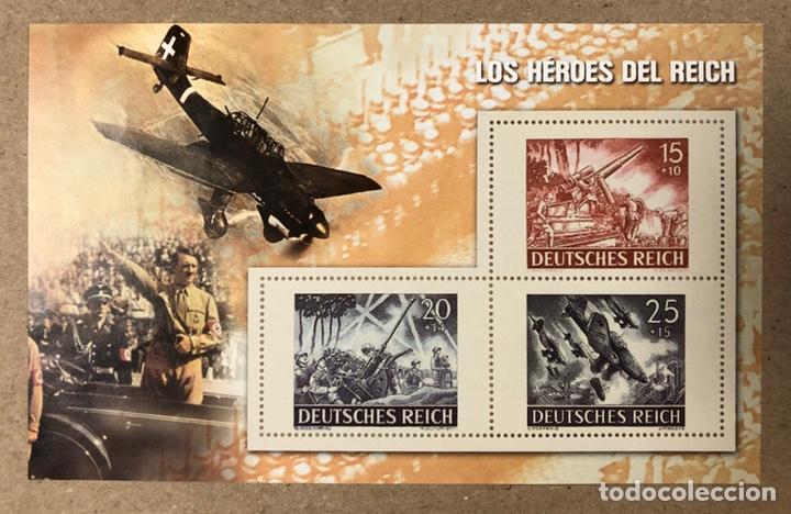 Sellos: LOTE DE 13 HOJAS BLOQUE ALUSIVAS A LA 2ª GUERRA MUNDIAL - BANDO NAZI - FACSIMIL. - Foto 14 - 216399572