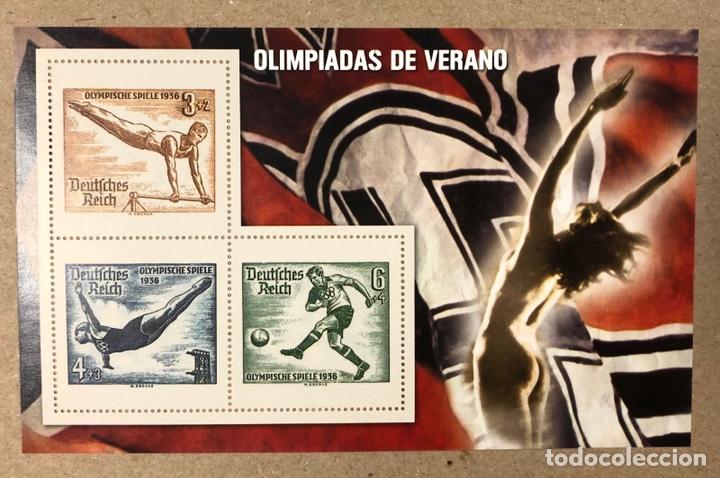Sellos: LOTE DE 13 HOJAS BLOQUE ALUSIVAS A LA 2ª GUERRA MUNDIAL - BANDO NAZI - FACSIMIL. - Foto 19 - 216399572