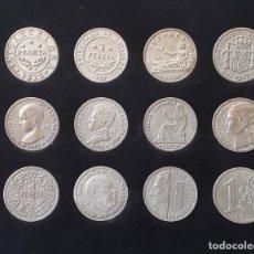 Sellos: DE LA PESETA AL EURO.COLECCIÓN DE MONEDAS DE PESETA HISTÓRICAS CON BAÑO DE PLATA. COL. LA VANGUARDIA. Lote 217840830