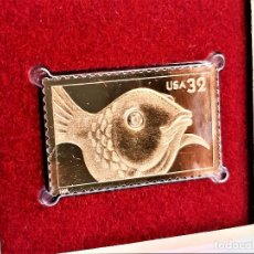 Sellos: SELLO DE ORO 22.KT. BRIGHT EYES GOLDFISH 1998 - 40 X 25.MM. Lote 218211998