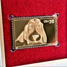 Sellos: SELLO DE ORO 22.KT. BRIGHT EYES DOG 1998 - 40 X 25.MM. Lote 218287496