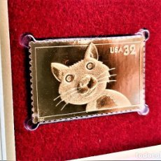 Sellos: SELLO DE ORO 22.KT. BRIGHT EYES CAT 1998 - 40 X 25.MM. Lote 218287646