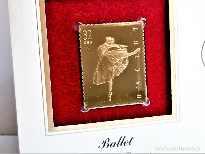 SELLO DE ORO 22.KT. BALLET CLASSICAL DANCE 1998 - 40 X 31.MM (Filatelia - Sellos - Reproducciones)
