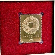 Sellos: SELLO DE ORO 22.KT. CHRISTMAS 1998 VICTORIAN WREATH 1998 - 30 X 23.MM. Lote 218742971