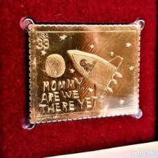 Sellos: SELLO DE ORO 22.KT. STAMPIN THE FUTURE MOMMY ARE WE THERE YET? 2000 - 40 X 31.MM. Lote 220755335